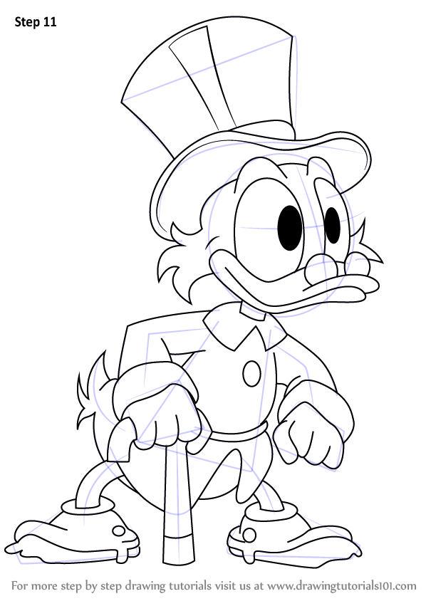 Learn How to Draw Scrooge McDuck