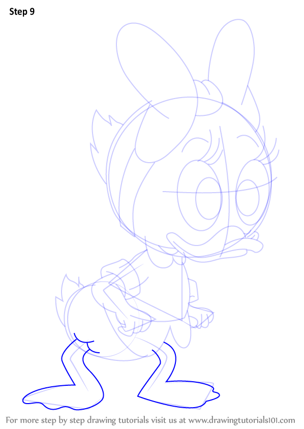 Learn How To Draw Webby From Ducktales Ducktales Step By