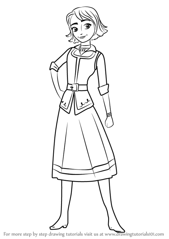 Learn how to draw naomi from elena of avalor elena of for Elena of avalor coloring pages