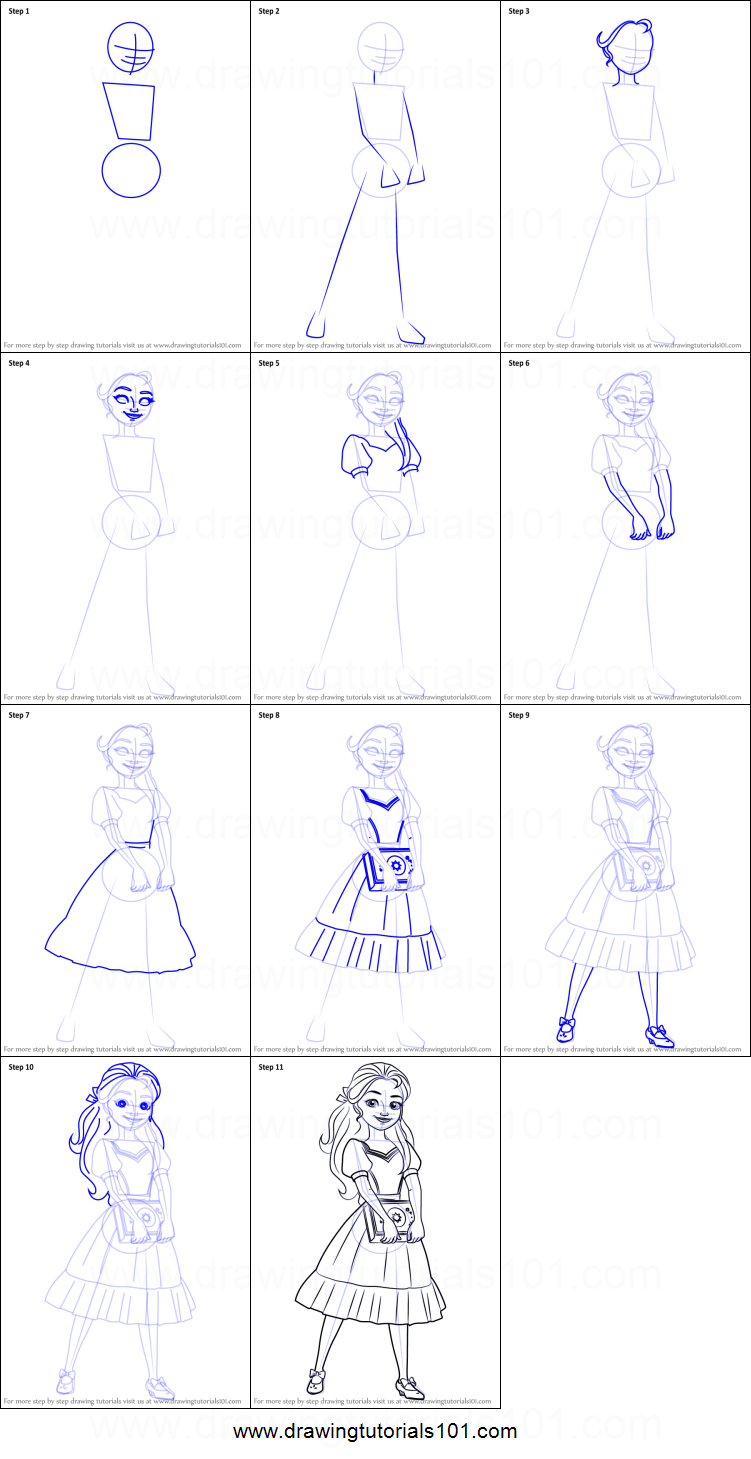 How To Draw Princess Isabel From Elena Of Avalor Printable