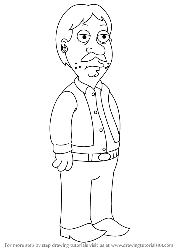Learn How To Draw Bruce From Family Guy Family Guy Step By Step