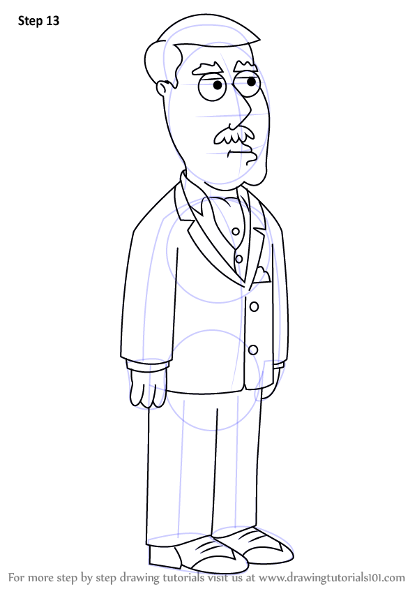 learn how to draw carter pewterschmidt from family guy  family guy  step by step   drawing tutorials