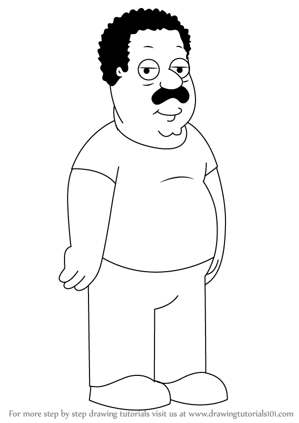 cleveland browns coloring pages - learn how to draw cleveland brown from family guy family
