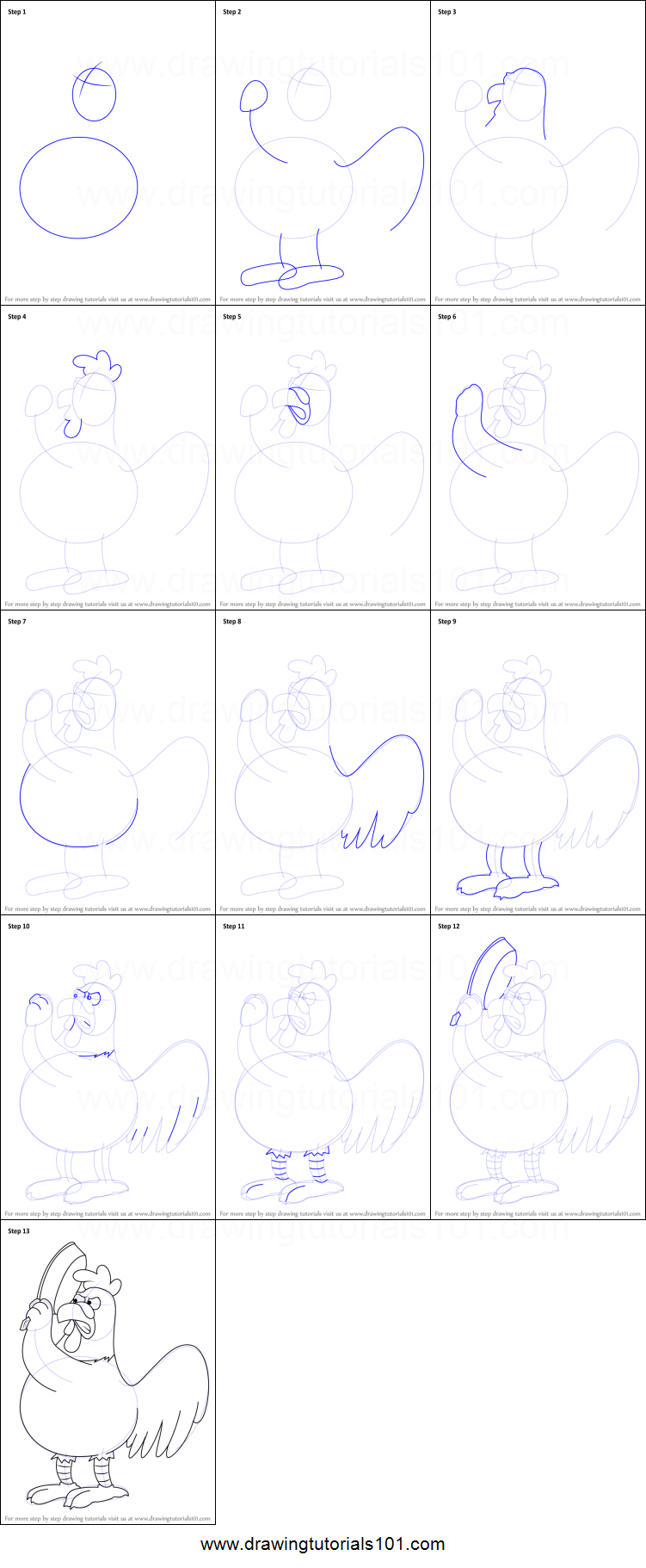 step by step how to draw griffin for kids