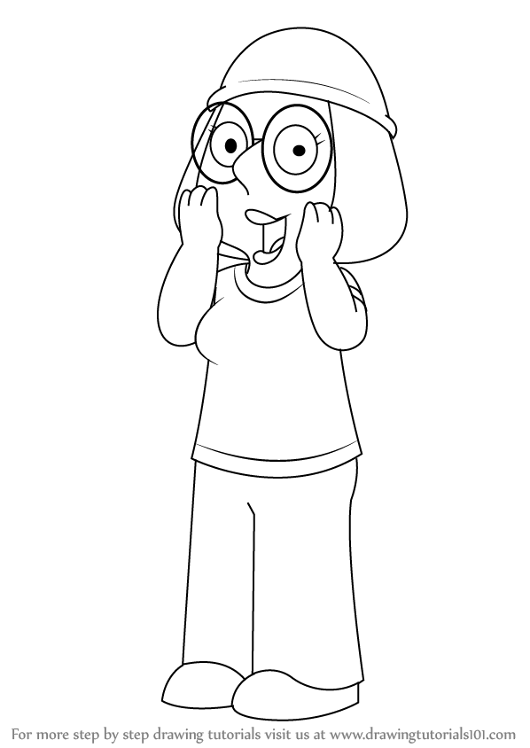 family guy lois coloring pages - meg griffin coloring pages