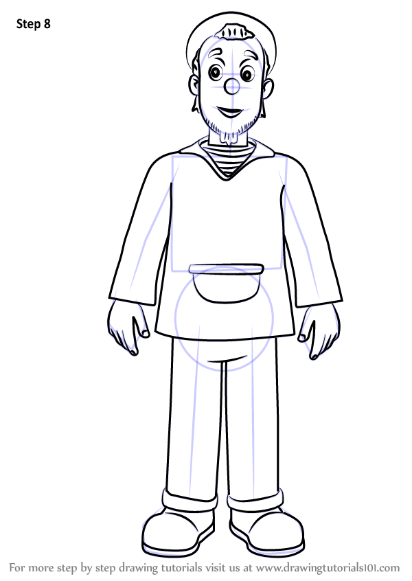 learn how to draw charlie jones from fireman sam  fireman