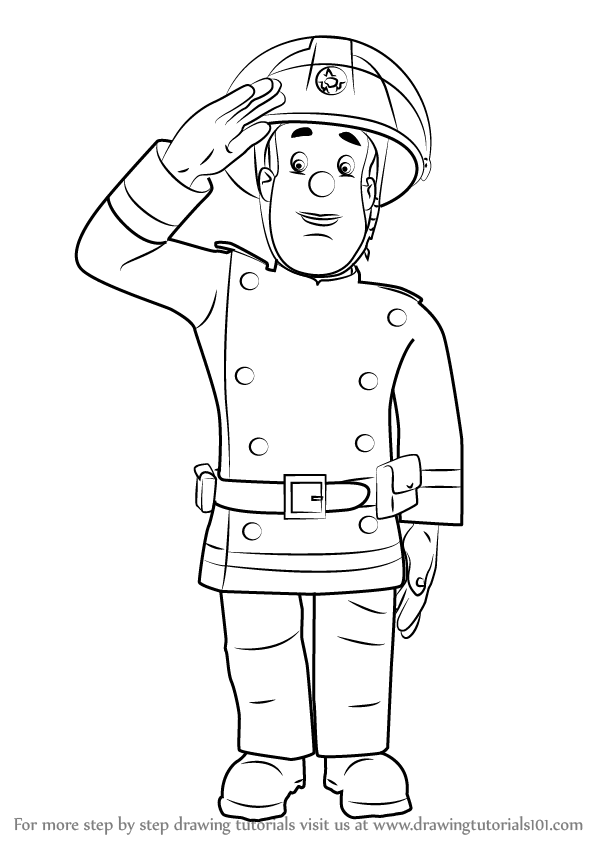 Learn How To Draw Fireman Sam Fireman Sam Step By Step Drawing