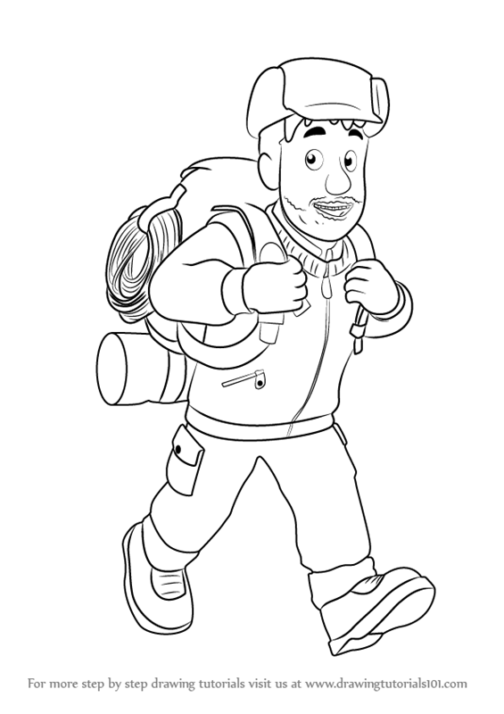 how to draw moose roberts from fireman sam