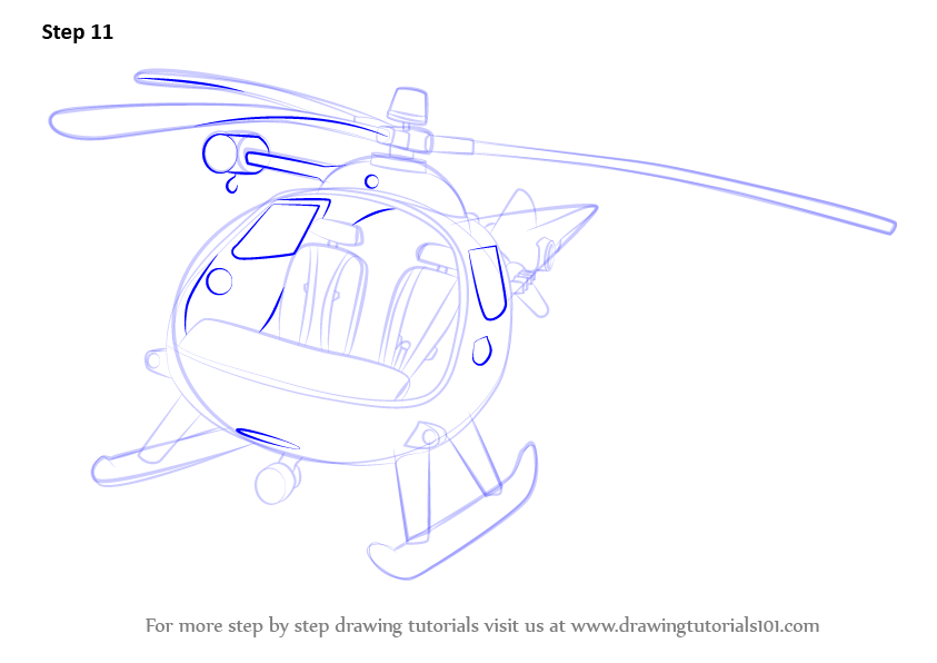 how to draw easy helicopter