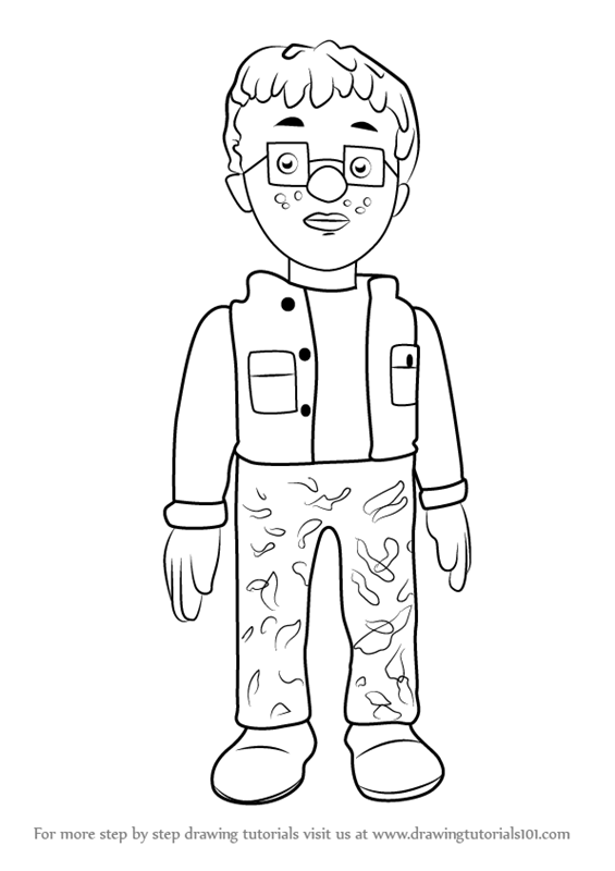 Learn How To Draw Norman Price From Fireman Sam Fireman Sam Step