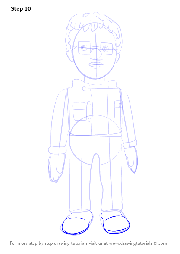 Learn How To Draw Norman Price From Fireman Sam Fireman