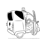 How to Draw Nurse Flood's Car from Fireman Sam