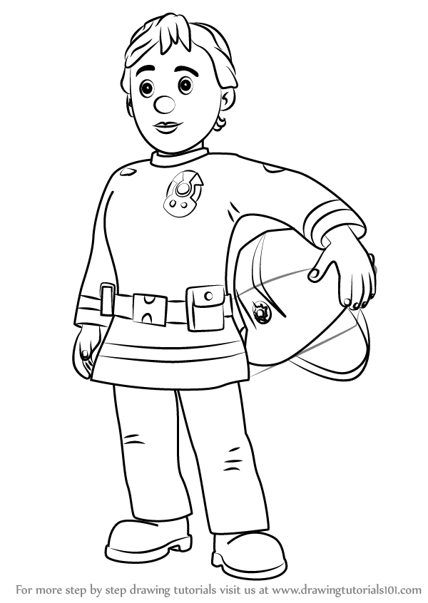 Learn How To Draw Penny Morris From Fireman Sam Fireman Sam Step