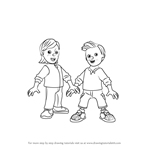 How to Draw Sarah & James Jones from Fireman Sam