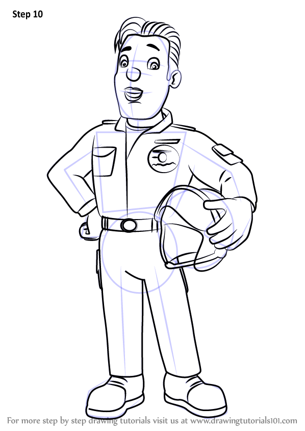 coloring book pages fireman - photo#16