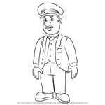 How to Draw Trevor Evans from Fireman Sam