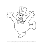 How to Draw Frosty from Frosty Returns