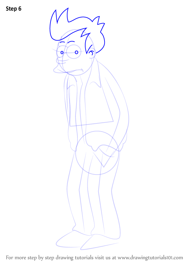 Learn How To Draw Fry From Futurama Futurama Step By