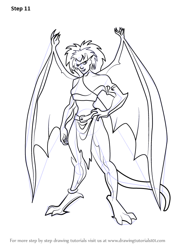 gargoyles characters coloring pages - photo#14
