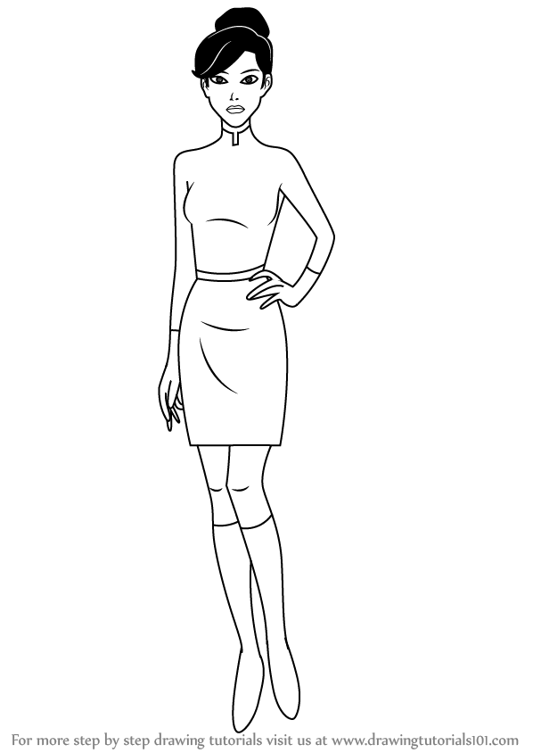 Learn How To Draw Dr Rebecca Holiday From Generator Rex Generator