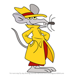 How to Draw Hercule Poirat from Geronimo Stilton