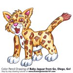 How to Draw Baby Jaguar from Go, Diego, Go!