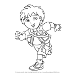 How to Draw Diego Marquez from Go, Diego, Go!