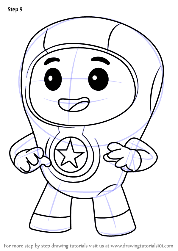 Learn How to Draw Foz from Go Jetters