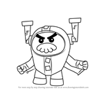 How to Draw Grandmaster Glitch from Go Jetters