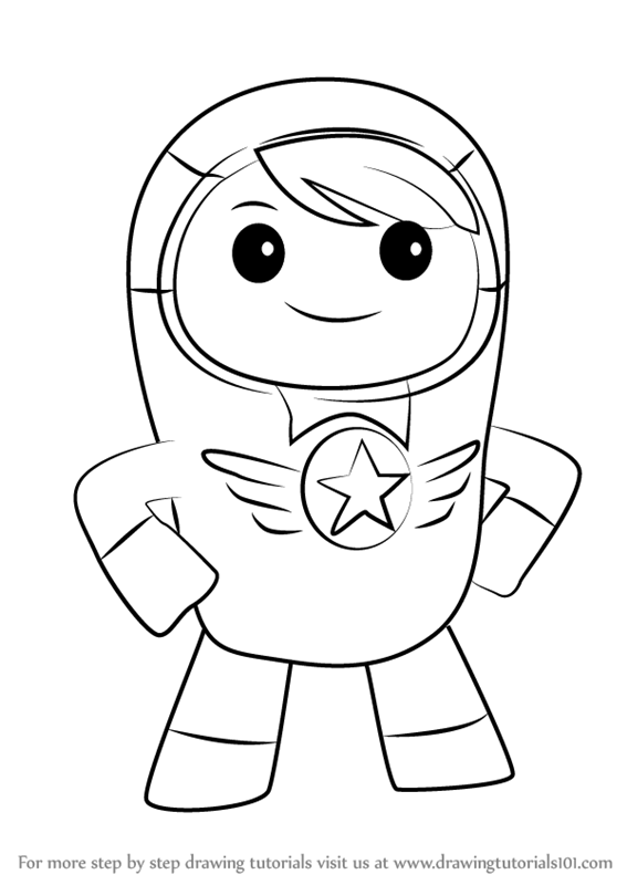 go jetters coloring pages for kids | Learn How to Draw Kyan from Go Jetters (Go Jetters) Step ...