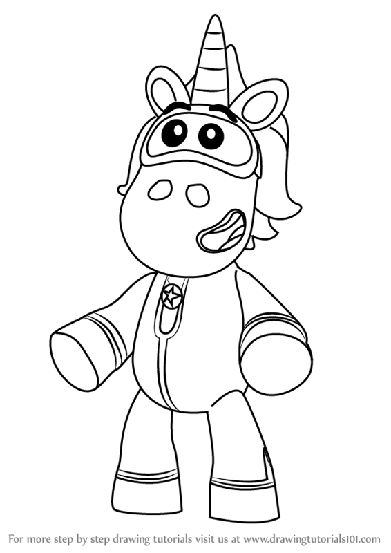 go jetters coloring pages for kids | Learn How to Draw Ubercorn from Go Jetters (Go Jetters ...