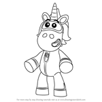 How to Draw Ubercorn from Go Jetters