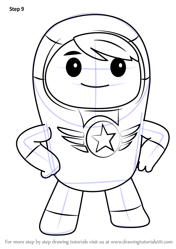 Learn How To Draw Xuli From Go Jetters Go Jetters Step