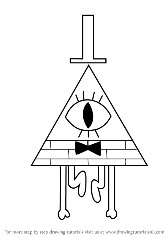 Learn How To Draw Bill Cipher From Gravity Falls Gravity Falls