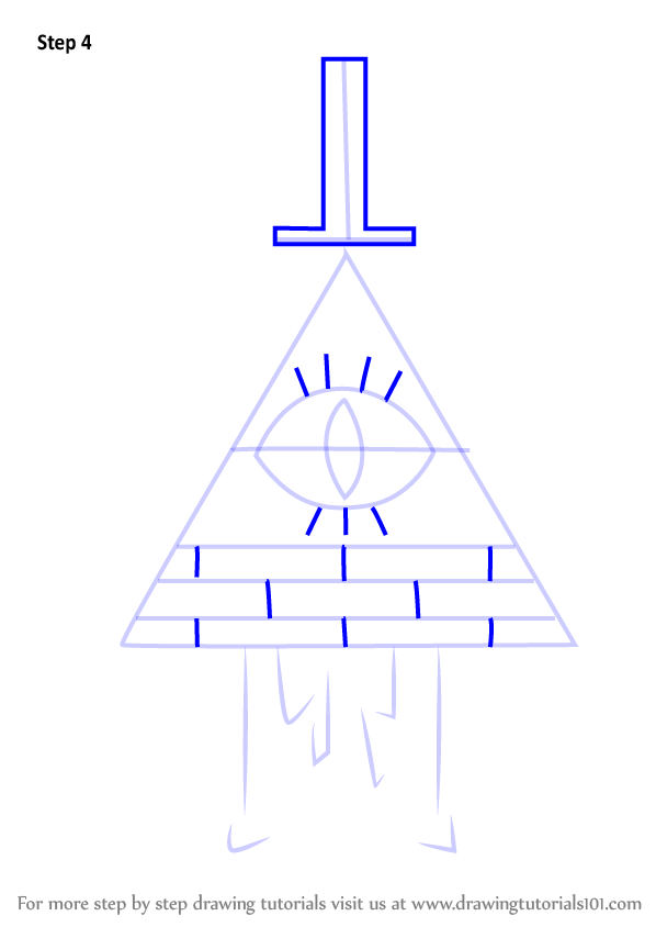 Learn How To Draw Bill Cipher From Gravity Falls  Gravity Falls  Step By Step   Drawing Tutorials