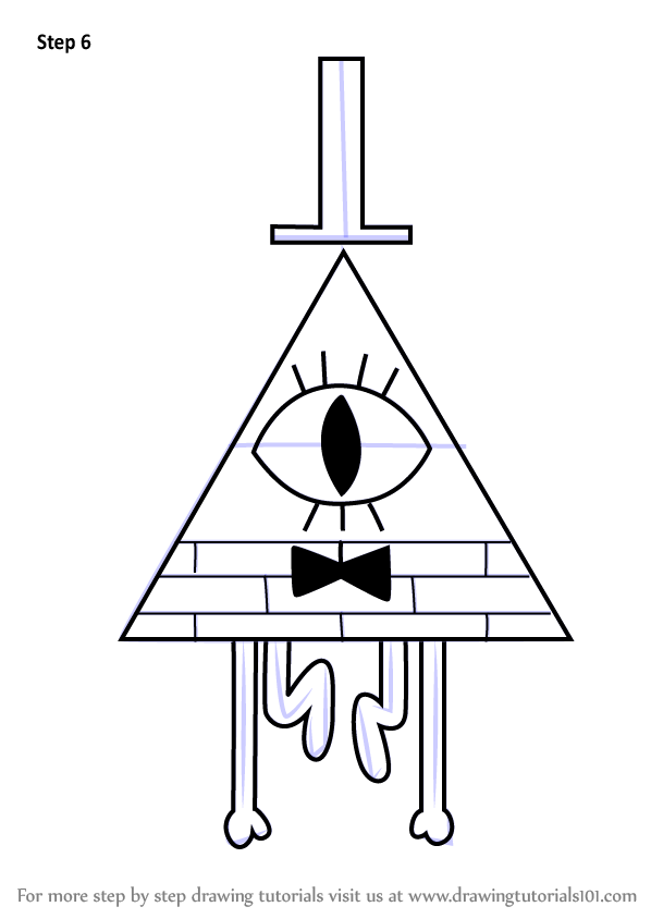 Step By Step How To Draw Bill Cipher From Gravity Falls