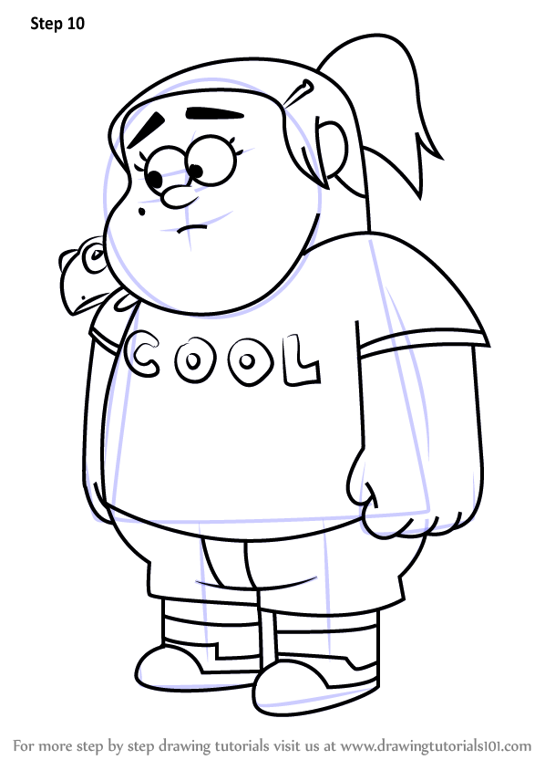 Learn How To Draw Grenda From Gravity Falls Gravity Falls