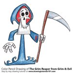 How to Draw The Grim Reaper from Grim & Evil