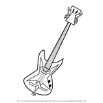 How to Draw Guitar of Rocklympus from Grojband