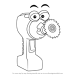How to Draw Spinner from Handy Manny