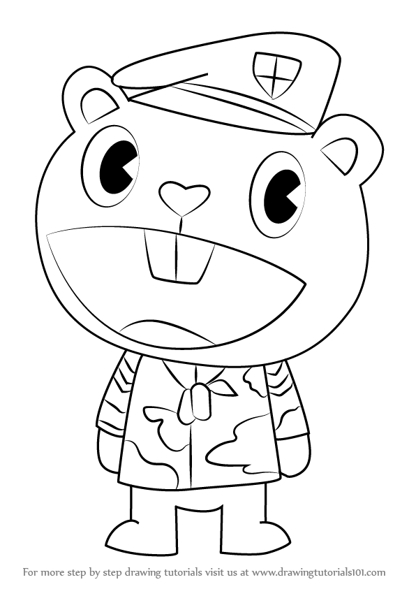 Learn How to Draw Flippy from Happy Tree Friends (Happy Tree Friends ...