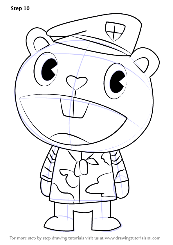 happy tree friends coloring pages - photo#26