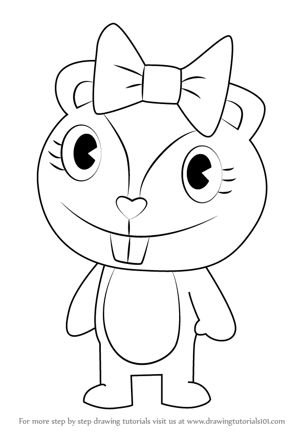 Learn How to Draw Giggles from Happy Tree Friends (Happy Tree ...