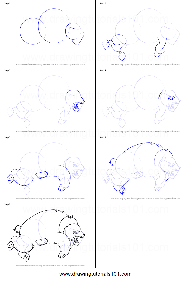 how to draw grizzly bear from happy tree friends printable step by step drawing sheet drawingtutorials101com