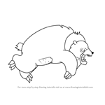 How to Draw Grizzly Bear from Happy Tree Friends