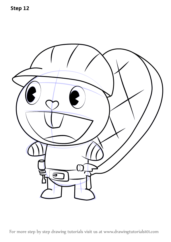 Learn How To Draw Handy From Happy Tree Friends Happy