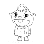 How to Draw Lammy from Happy Tree Friends