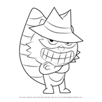 How to Draw Shifty from Happy Tree Friends
