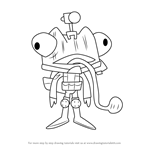 How to Draw Sneaky from Happy Tree Friends
