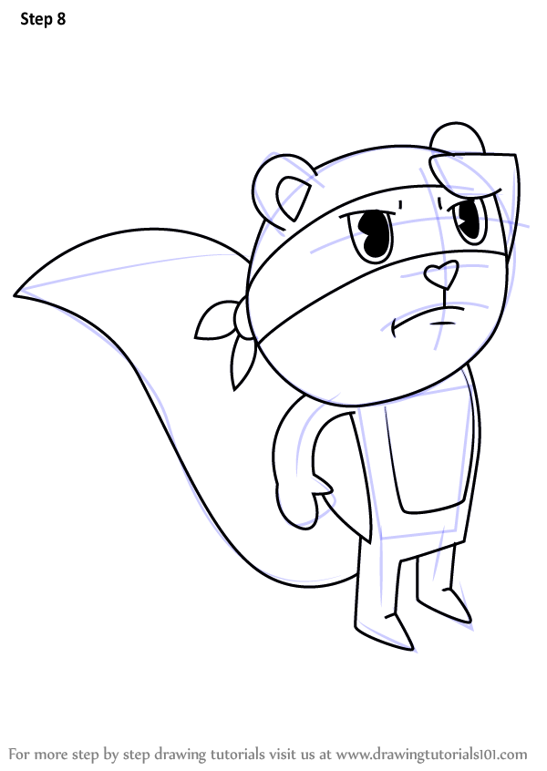 Learn How To Draw Splendont From Happy Tree Friends Happy